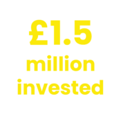1.5 million invested